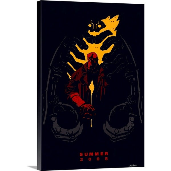 Solid-Faced Canvas Print entitled Hellboy 2: The Golden Army - Movie Poster