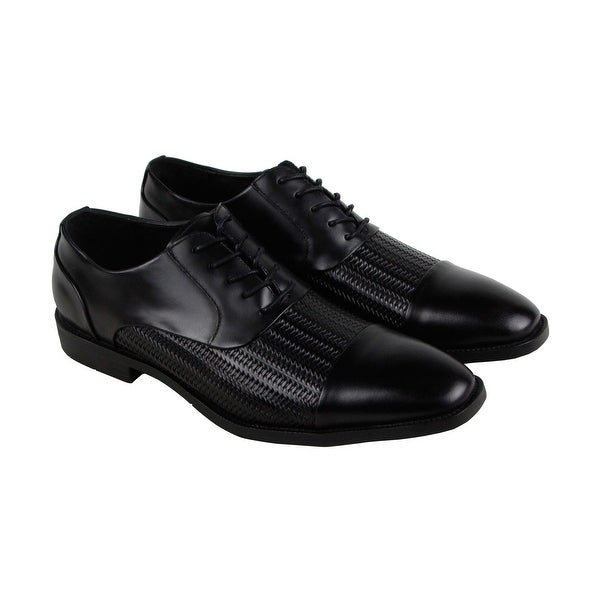 Kenneth Cole New York Ticket Balance Mens Black Casual Dress Oxfords Shoes