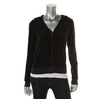 Juicy Couture Womens Velour Zip-Up Hoodie - L