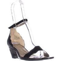 Bandolino Opali Ankle Strap Wedge Sandals, Black