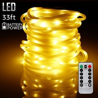 33ft 100LEDs Starry String Lights, Waterproof & Battery Powered,Warm White