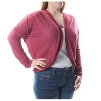 BELLE DU JOUR Womens Red Long Sleeve Open Sweater  Size: S