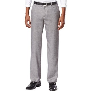 Calvin Klein CK Straight Fit Flat Front Dress Pants Concrete Grey 30 x 30