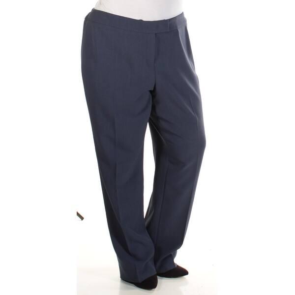 Womens Blue Wear To Work Straight leg Pants Plus Size 16W