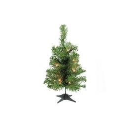 "18"" x 10"" Pre-Lit Traditional Noble Fir Medium Artificial Christmas Tree - Clear Lights"