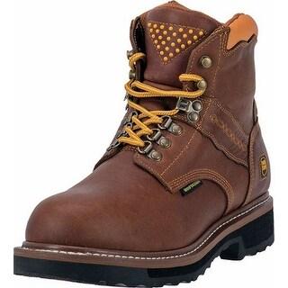 "Dan Post Work Boots Mens 6"" Gripper Zipper Waterproof Brown"