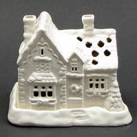 Ceramic House With 4 Tea Lights
