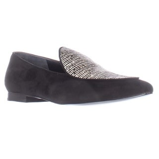 Marc Fisher Tanialy Pointed Toe Loafer Flats, Black Multi