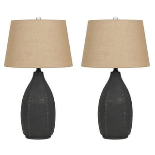 Hardwired lamp sets for less overstock cal lighting bo 2680tb 2 pack of 2 bosque single light 285 tall greentooth Images
