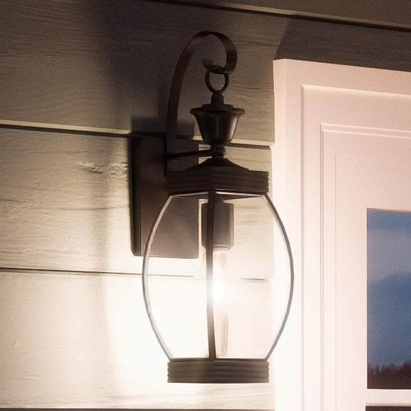 shop luxury colonial outdoor wall light 17 h x 5 5 w with