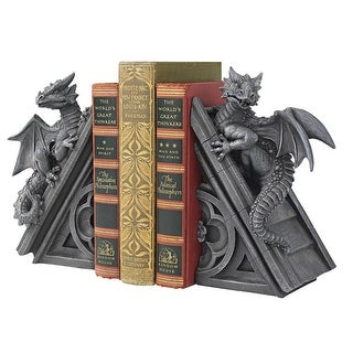 Design Toscano Halloween  Gothic Castle Dragons Sculptural Bookends