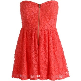Material Girl Womens Juniors Lace Padded Bust Romper