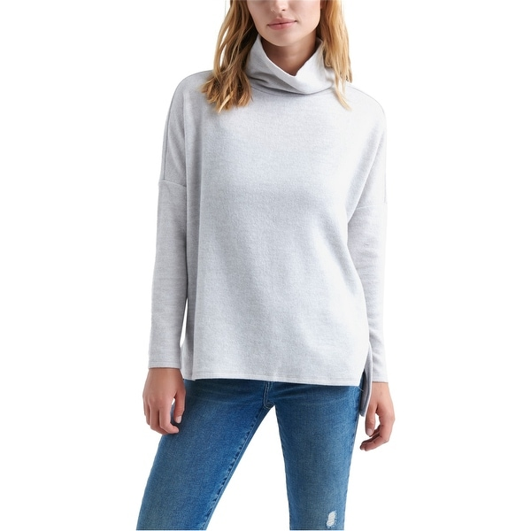 Lucky Brand Womens Drop Shoulder Turtleneck Pullover Sweater, Grey, X-Large. Opens flyout.