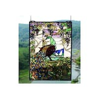Meyda Tiffany 50562 Stained Glass Tiffany Window from the Tiffany Peacock Collection - n/a