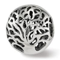 Italian Sterling Silver Reflections Polished Cut-out Tree Bead (4.5mm Diameter Hole)