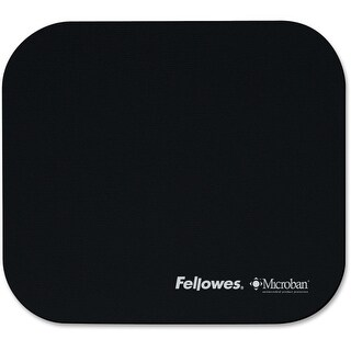 "Fellowes Inc. 5933901 Fellowes Microban Mouse Pad - TAA Compliant - 0.1"" x 9"" x 8"" Dimension - Black - Rubber"