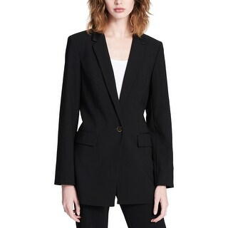 Calvin Klein Womens Petites One-Button Blazer Professional Office