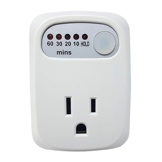 Link to Simple Touch Auto Shut-Off Power Safety Outlet, 60-30-20-10 Minute Electrical Countdown Timer with HOLD Option Similar Items in Electrical