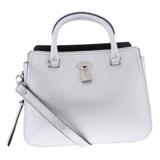 London Fog Womens Kate Satchel Handbag Signature Convertible - MEDIUM