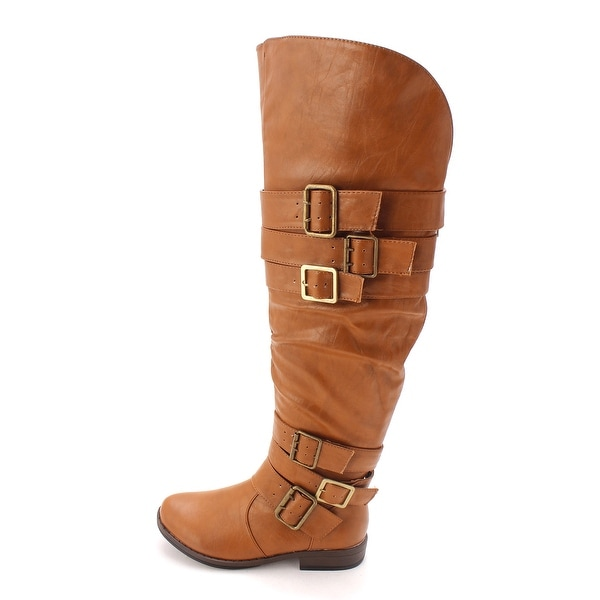 Just Fab Womens FREDA Closed Toe Mid-Calf Riding Boots - 6