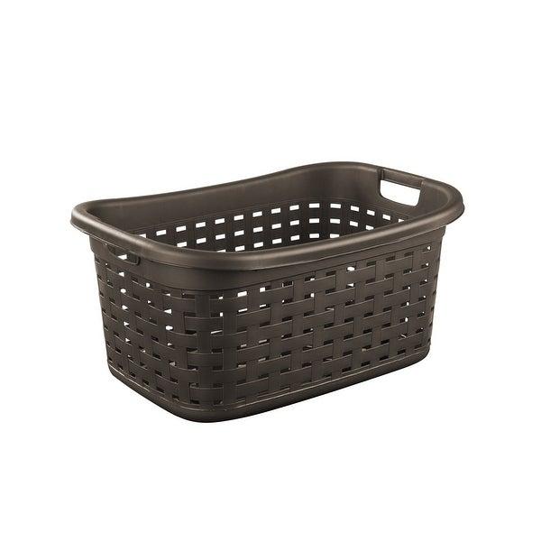 Sterilite 12756P06 Weave Laundry Basket, Espresso