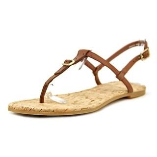 Cole Haan Britt Sandal Women Open-Toe Leather Brown Slingback Sandal