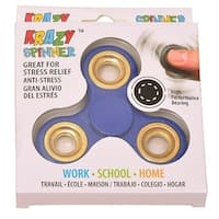 Krazy Spinner Boys Girls Blue Gold Fidget Spinner Concentration Toy - ROYAL BLUE