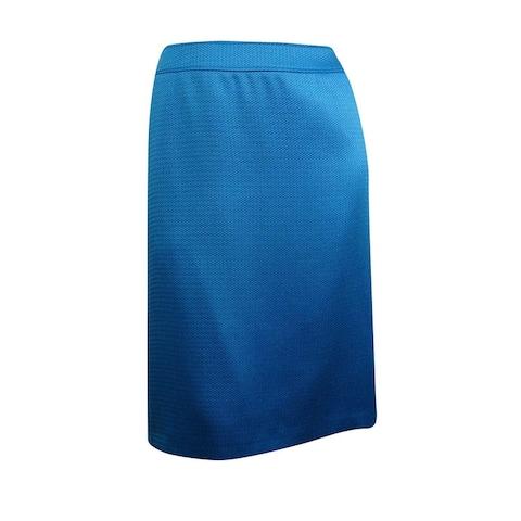 Tahari Women's Woven Sheen Pencil Skirt