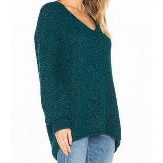 Free People NEW Green Womens Size XS Loose-Knit Tunic All Mine Sweater