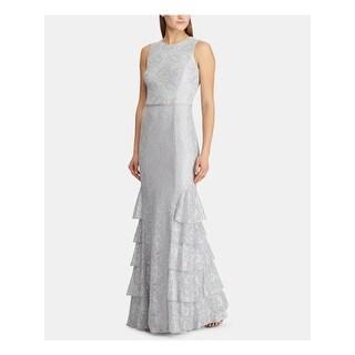 Link to RALPH LAUREN Gray Sleeveless Full-Length Shift Dress  Size 6 Similar Items in Dresses