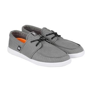 DC Hampton TX SE Mens Grey Textile Lace Up Sneakers Shoes