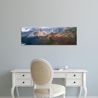 Easy Art Prints Panoramic Images's 'Rainbow And Cloud Over Mountains, Grand Canyon National Park, Arizona' Canvas Art