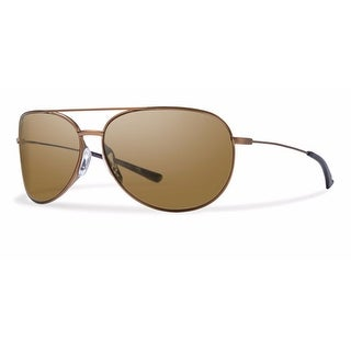 8f7fb446acd4a Shop Smith Rockford Slim RFSPPBRMD Sunglasses - Brown - Free Shipping Today  - Overstock.com - 15377376