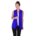 Simply Ravishing Women's Basic Sleeveless Open Cardigan (Size: Small-5X) - Thumbnail 2