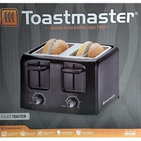 Toastmaster TM-45TS 4-Slice Cool Touch Toaster, Black