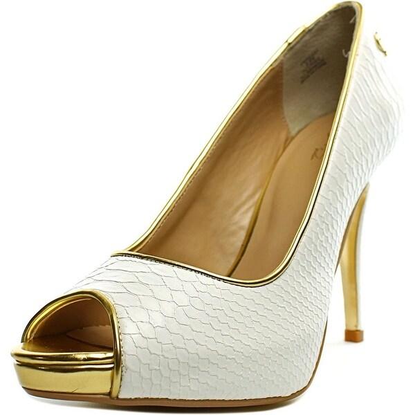 Thalia Sodi Cereza Women Peep-Toe Synthetic White Heels