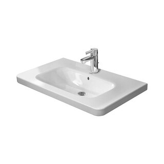"""Duravit 2320800000 DuraStyle 31-1/2"""" Ceramic Bathroom Sink for Vanity, Wall Mounted or Pedestal Installations with Single Faucet"""