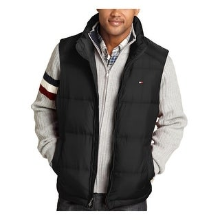 Tommy Hilfiger Mens Black Quilted Nylon Outdoor Vest X-Large XL 54