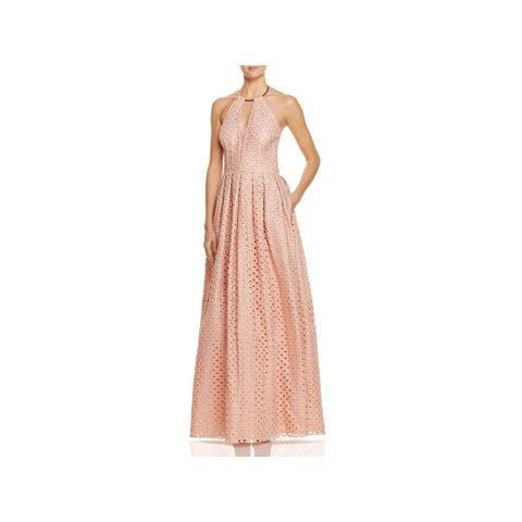 JS Collections Womens Evening Dress Metallic Halter
