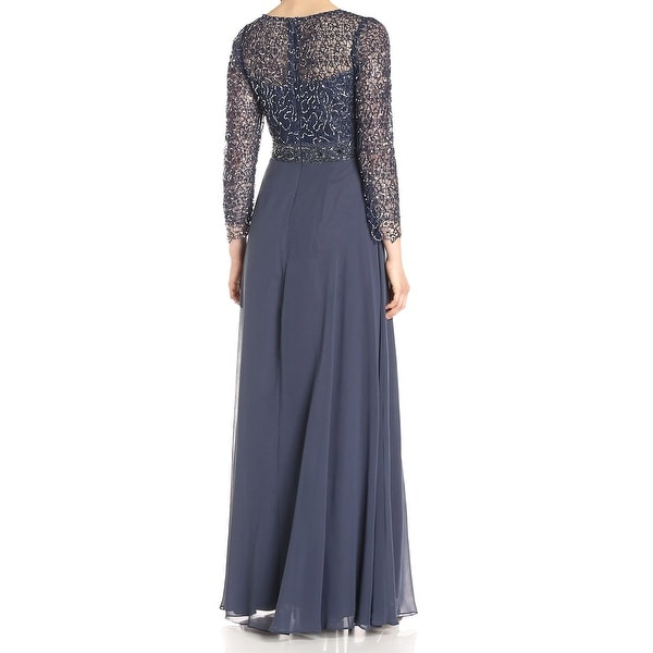 Decode 1.8 Womens Long Sleeve Sequin Lace Gown