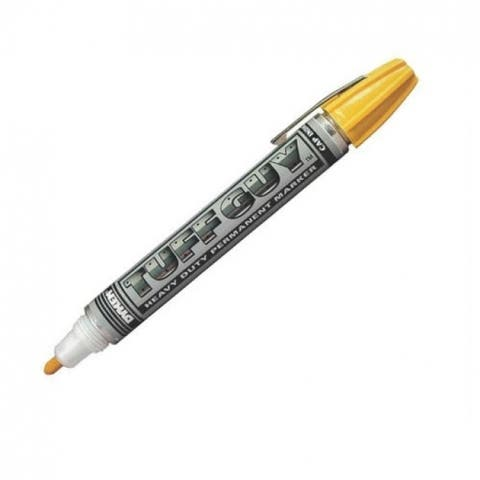 Dykem 44401 Felt Tip Permanent Marker, Yellow