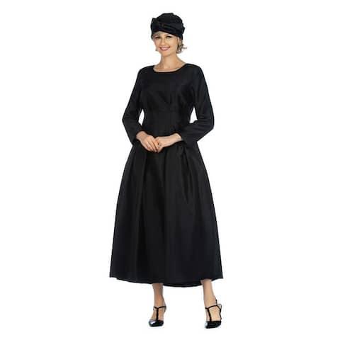 Giovanna Signature 1pc Shantung A-line Simple Dress w/ Belt