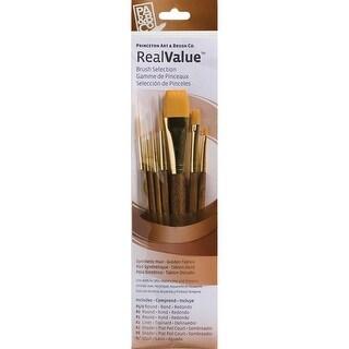 Synthetic Gold Taklon Real Value Brush Set-7/Pkg