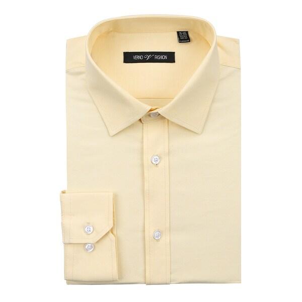 Men's Dress Shirt Regular Fit Cotton Solid Oxford Shirt for Men. Opens flyout.