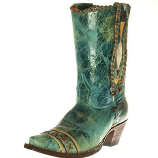 Johnny Ringo Western Boots Womens Cowboy Lacing Turquoise JR922-78T