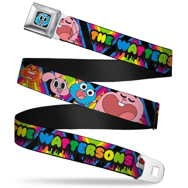 Gumball Face Close Up Black Full Color The Watersons Family Portrait Multi Seatbelt Belt