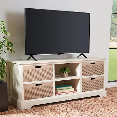 "Safavieh Landers 47-inch Storage Media TV Stand - 47.3"" W x 15.8"" L x 20"" H"