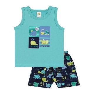 Baby Boy Outfit Infant Graphic Tank Top and Shorts Set Pulla Bulla 3-12 Months