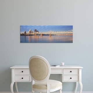 Easy Art Prints Panoramic Image 'View of the Ohio River and Louisville skyline, KY shot from Indiana' Canvas Art