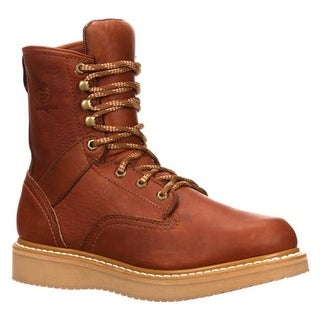 "Georgia Boot Men's G81 8"" Wedge Boot Gold Coast Barracuda SPR Leather"